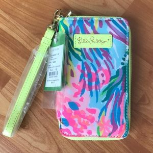 Lilly Pulitzer wallet phone case Fan Sea